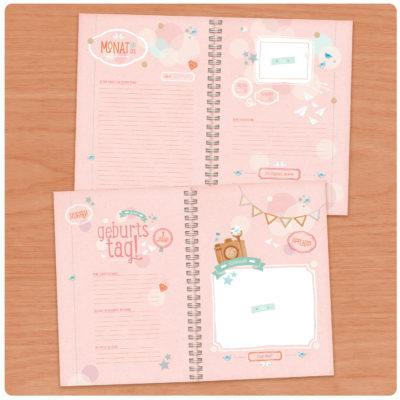 UNSER BABY! / Babytagebuch für Mädchen