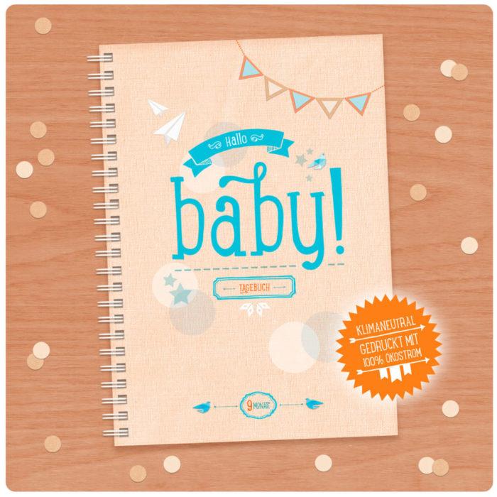 Hallo Baby Schwangerschaftstagebuch kaufen A5 gelb