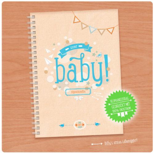 Unser Baby! Babytagebuch A5 für das 1. Jahr in Gelb