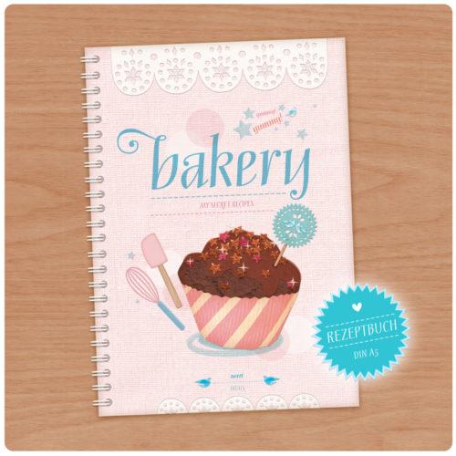 Yummy Bakery rosa Rezeptbuch A5 kaufen