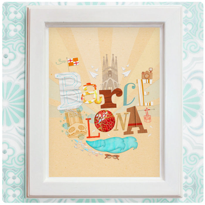 "Art Print der Illustration ""Barcelona"""