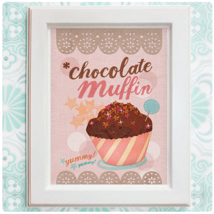 "Art Print der Illustration ""Chocolate Muffin"" rosa"
