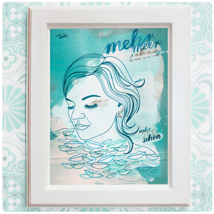 "Art Print der Illustration ""Mehr Meer"" blau"