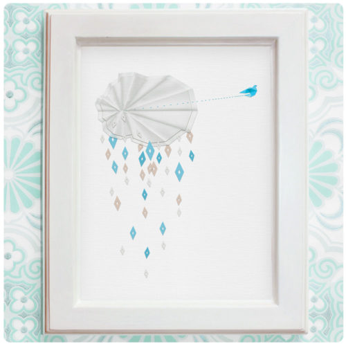 "Art Print der Illustration ""Regenschauer"""