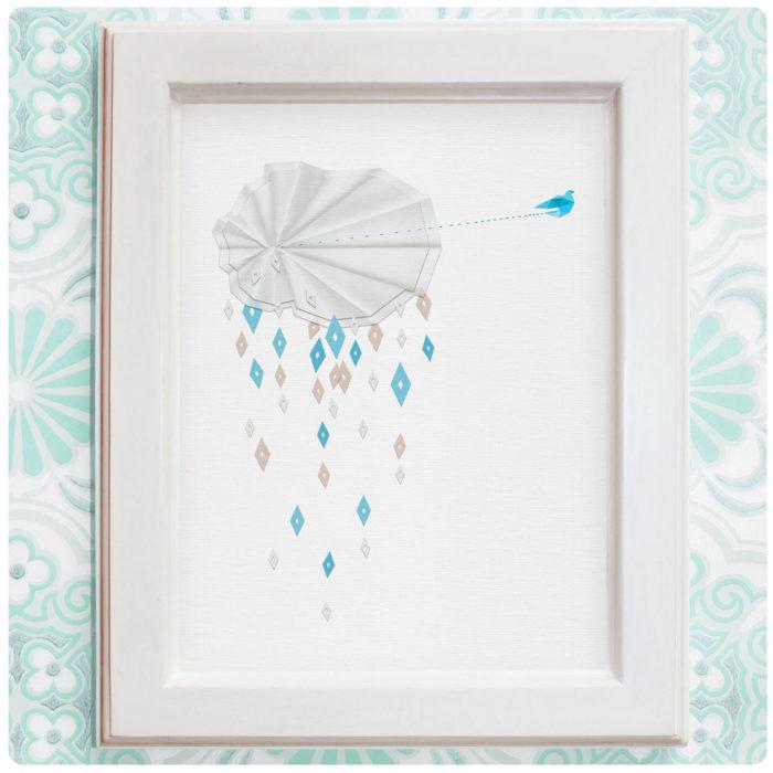 """Art Print der Illustration """"Regenschauer"""""""